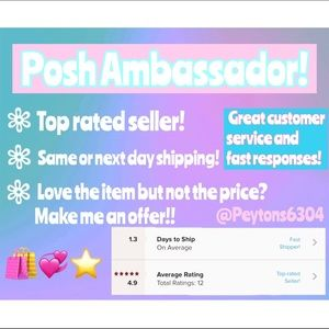 💞Posh Ambassador•Top Rated Seller•Fast Shipping💞
